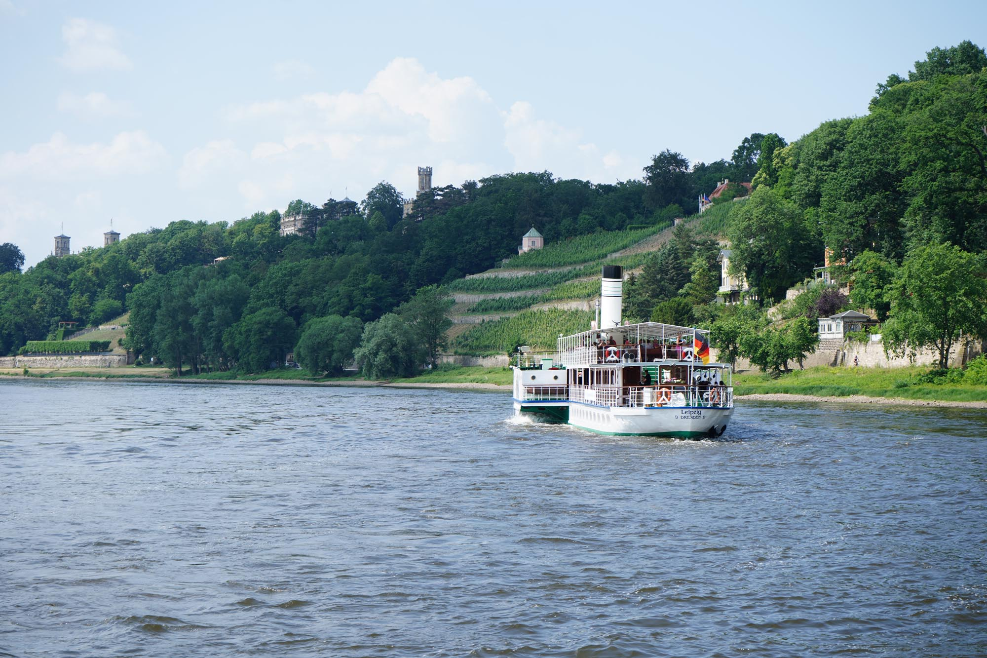 Dampferfahrt auf der Elbe