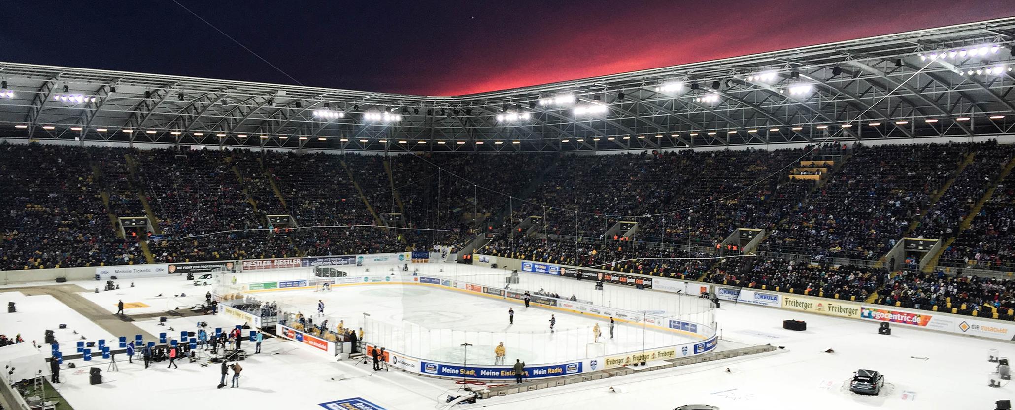 Eishockey im Fußballstadion – Ein Rückblick auf das Winter Derby 2016