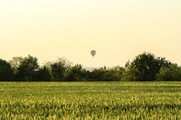 Abendliche Ballonfahrt